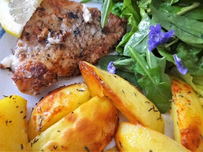 Rotbarsch,Kartoffelspalten,Salat (3)