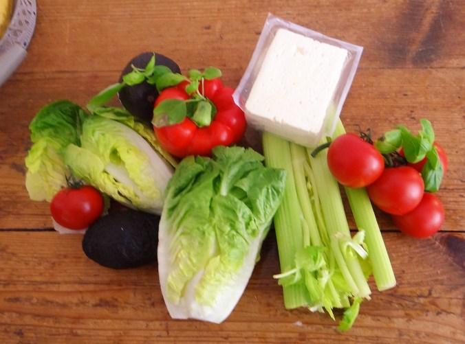 Fächerkartoffel,Guacamole,Bunter Salat (5)