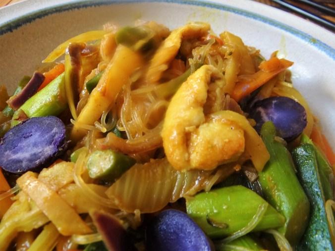 Wokgemüse,grüner Spargel,Glasudeln (3)