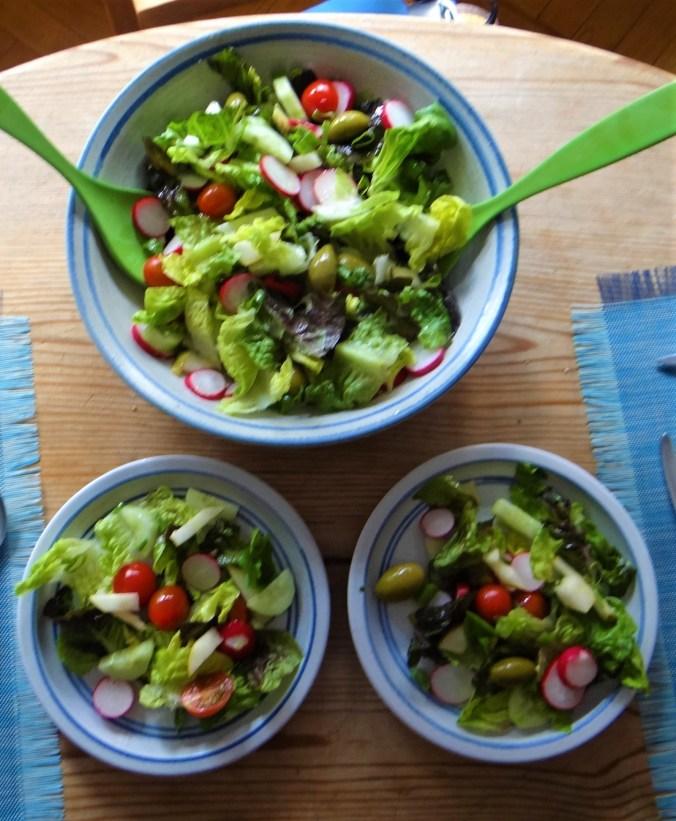 Chicoree mit Birnen,Hirse,Bunter Salat,Erdbeeren (3)