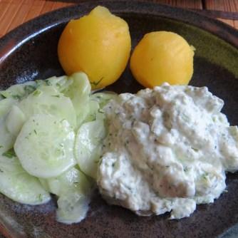 Quark,Kartoffeln,Gurkensalat,, (17)