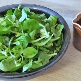 Rotbarsch mit Dillsauce,Salate, (14)