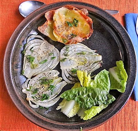 Fenchel und knusprige Kartoffelnester (1)
