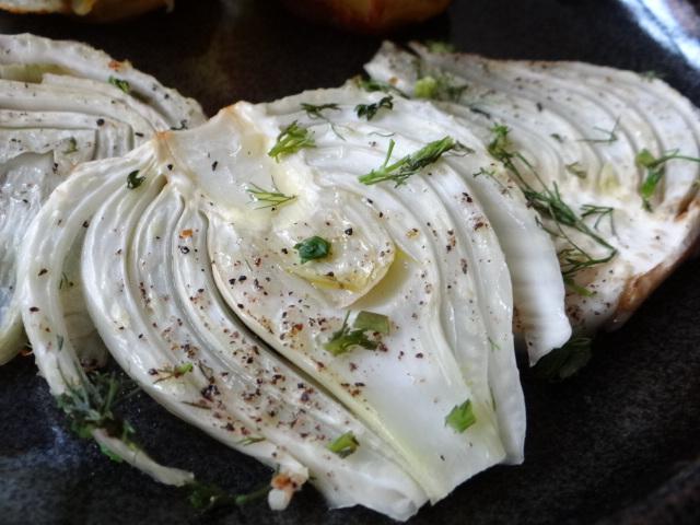 Fenchel und knusprige Kartoffelnester (4)