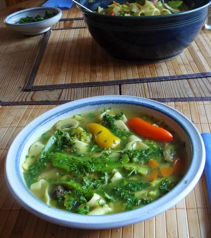 Gemüsesuppe mit Pappardelle (4)