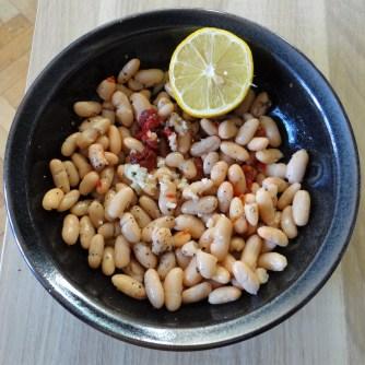 Topinambur-Kartoffelstampf,Petersilienpesto,Bohnensalat (16)