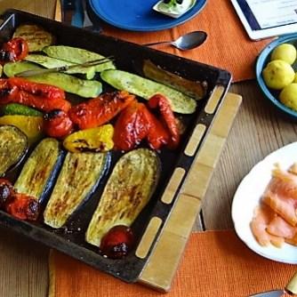 Ofengemüse,geräucherter Lachs,Bärlauch Dip (12)