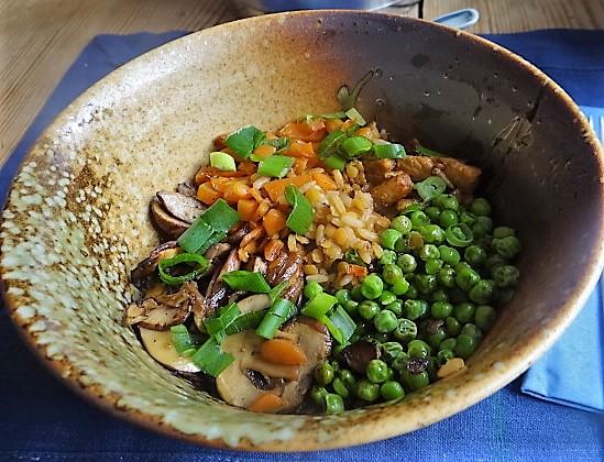 Reis mit Gemüse und Putenfleisch (1)