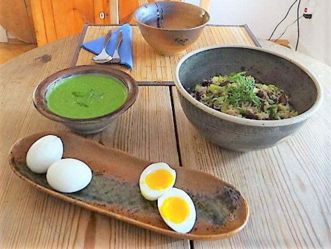 Bohnen Thunfisch Salat mit Rucola Pesto und Ei (15)