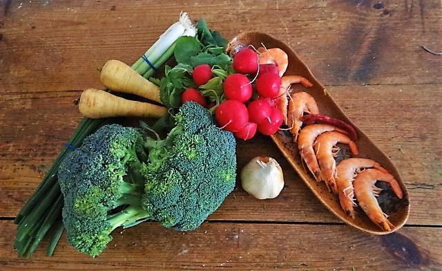 Brokkoli mit Garnelen (8)
