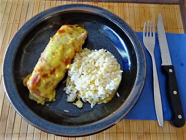 Chocoree in Schinken und Reis (1)