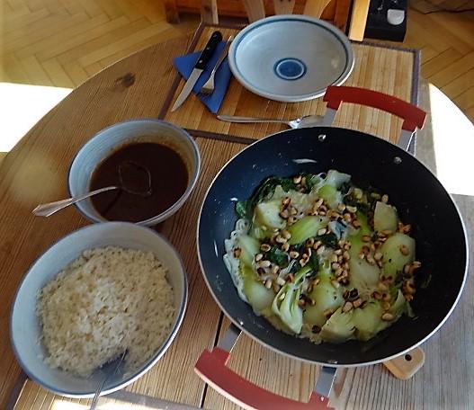 Pak Choy mit Miso Sauce (4)