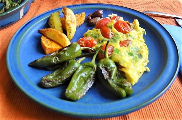 Frittata,Ofen Pommes,Pimientos (1)