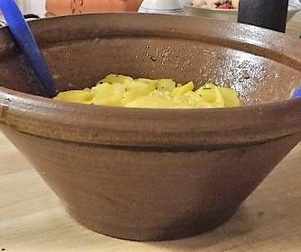 Kartoffelsalat mit Bärlauchund pochierten Eiern (9)