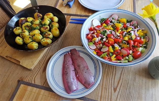 Marinierter Hering,Bunter Salat, Bratkartoffeln (17)