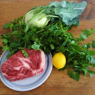 Rindfleisch in Petersiliensauce, Kohlrabigemüse,Salzkartoffeln (7)