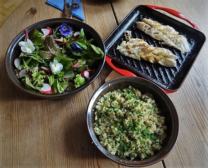 Rotbarsch,Couscous,Bunter Salat (3)