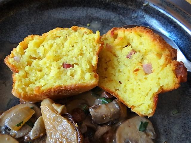 Schinkenmuffins und Pilze (3)