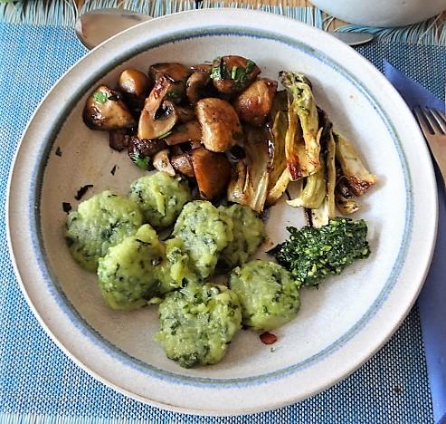 Bärlauch Gnocchis mit Pilzen