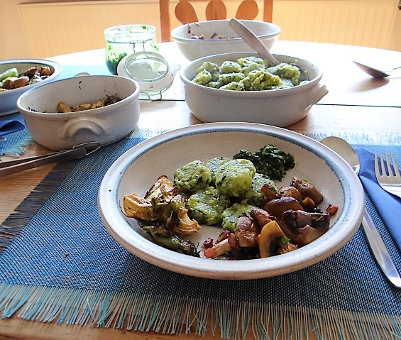 Bärlauch Gnocchis,Pilze (4)