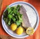 Forelle mit kalter Dillsauce und Feldsalat (17)