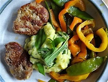 Medaillons,Kartoffelstampf,Paprika (4)