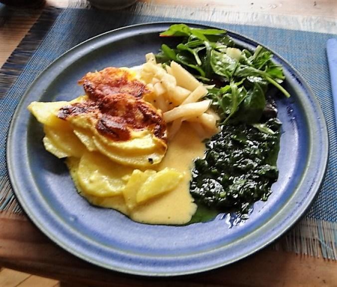 Navets,Kartoffelgratin,Salat (1)