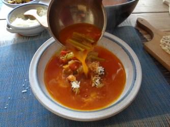 Staudensellerie Suppe mit Weißbrot (25)