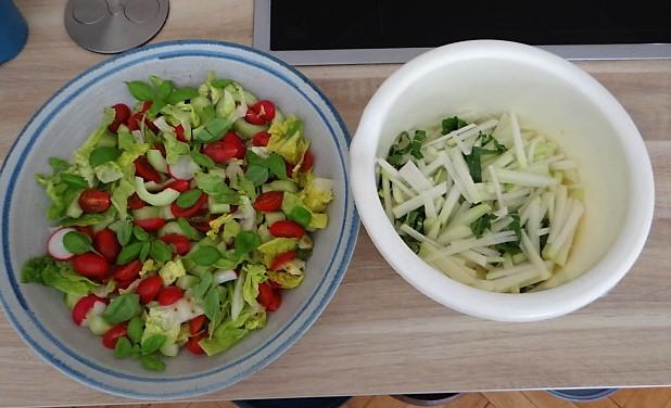 Kohlrabi Gemüse,Kartoffeln,Salat (1f)