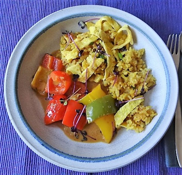 Paprika in Kokosmilch und Gewürzreis (18)