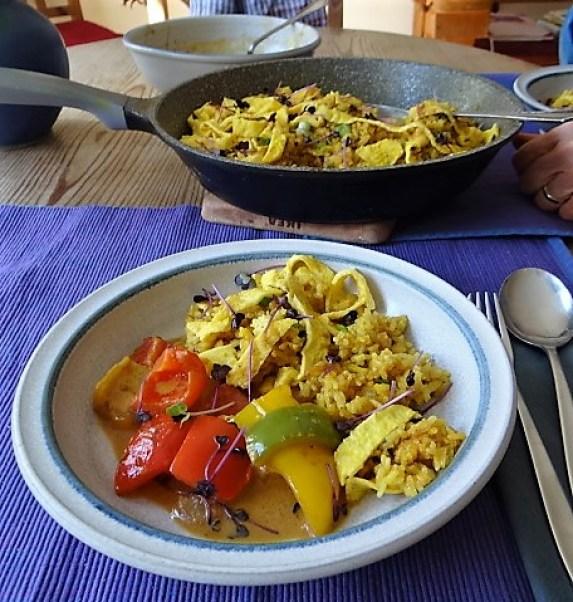 Paprika in Kokosmilch und Gewürzreis (4)