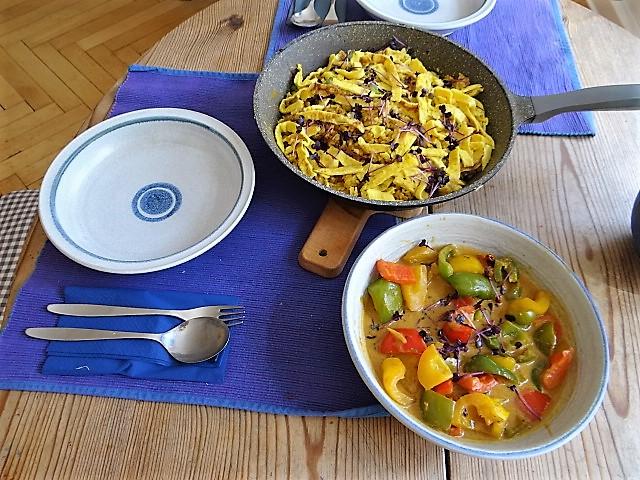 Paprika in Kokosmilch und Gewürzreis (5)
