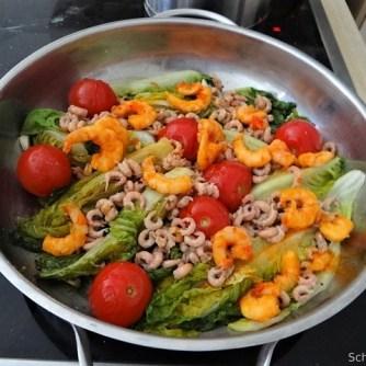 Gebratener Salat-Nordseekrabben und mehr (11)