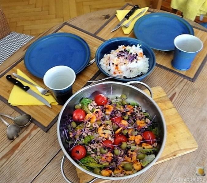 Gebratener Salat-Nordseekrabben und mehr (5)