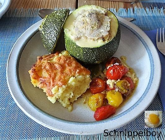 Gefüllte Zucchini mit Kartoffelauflauf (21)