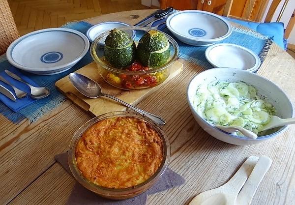 Gefüllte Zucchini mit Kartoffelauflauf (4)