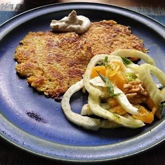 Kartoffel-Möhren Pupper mit Quark Dip und Fenchelsalat (15)