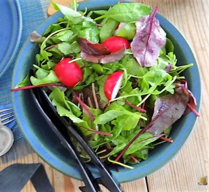 Mairübchen,geräuchertes Forellenfilet, Salat (15)