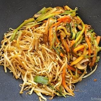Mungbohnenkeimlinge mit Gemüse,Reis (13)