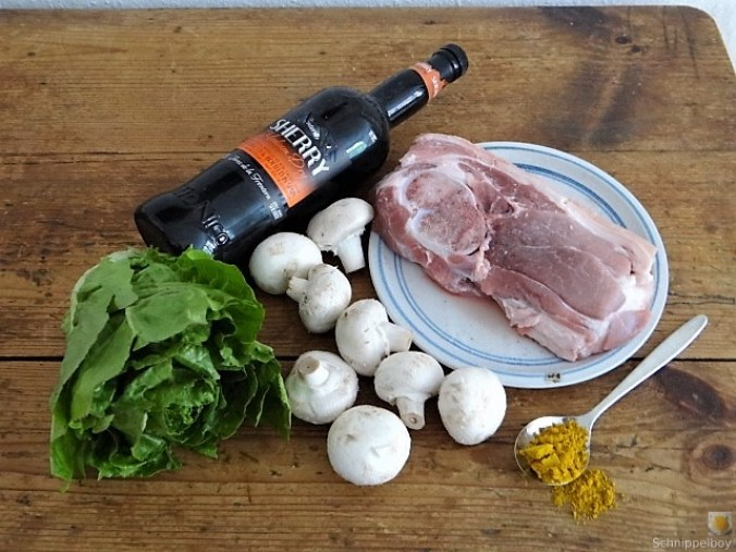 Sherryfleich,Reis,Salat (6)