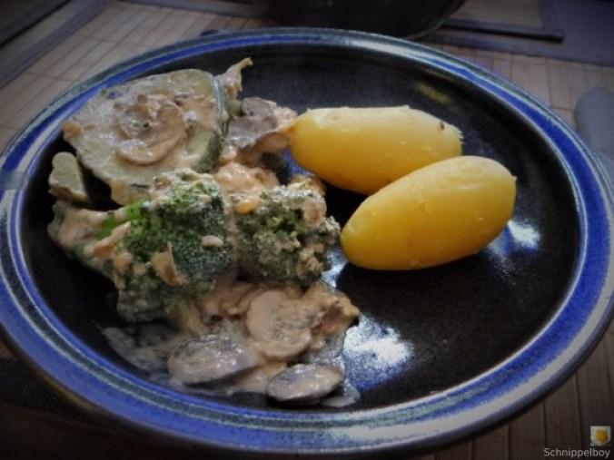 Brokkoli,Zucchini,Pilze in Labneh (15)