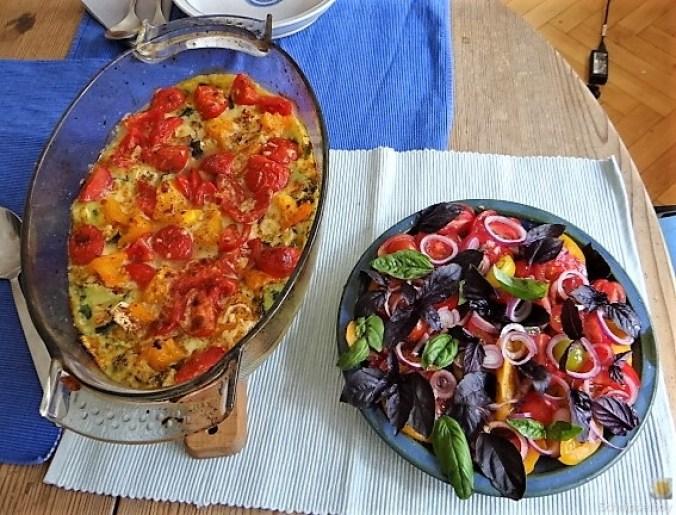 Polenta mit Babyspinat und Tomaten (4)