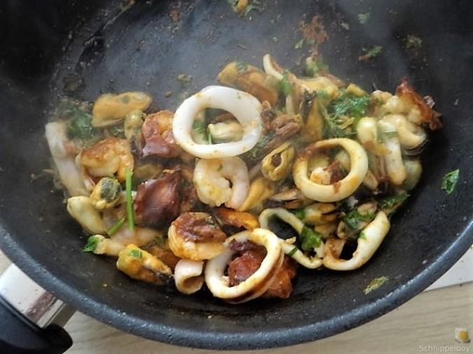 Tomaten, Meeresfrüchte, Spaghetti, Trauben (11)