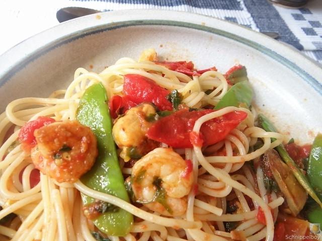 Tomaten, Meeresfrüchte, Spaghetti, Trauben (3)