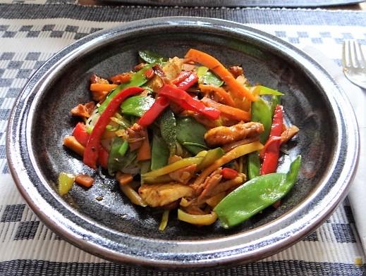 Wokgemüse mit Reisnudeln und Fleisch (17)