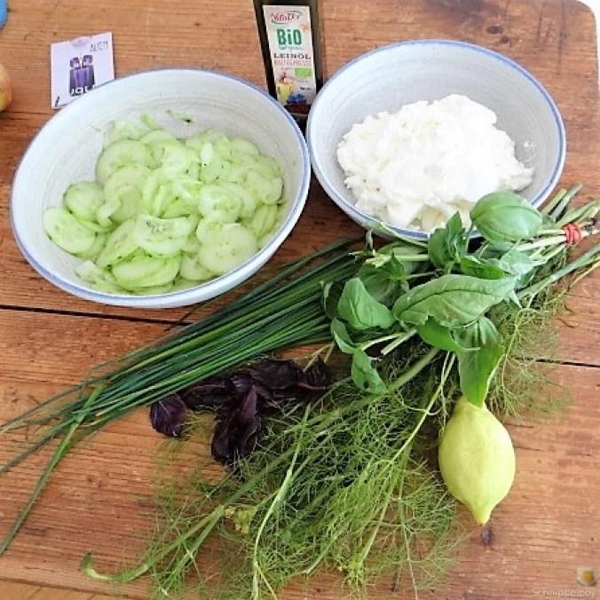 Quark,Kartoffeln, Gurkensalat (6)