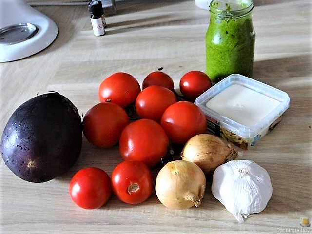 Auberginen-Tomaten Gemüse, Foccacia (7)