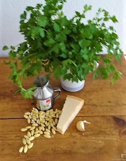 Auberginen-Tomaten Gemüse, Foccacia (8)