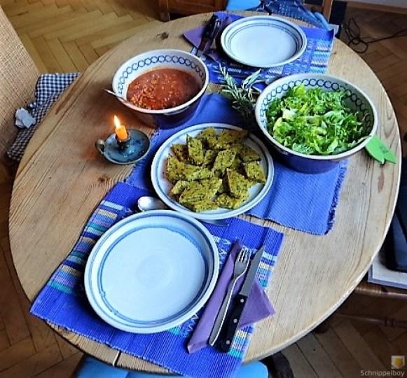 Brennessel Polenta mit Bolognese (4)