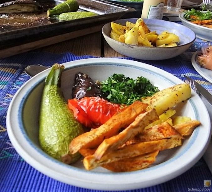 Gremolata, Ofengemüse,Pommes (4)